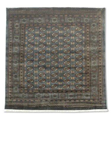 Tradizionale fatto a mano Bokhara quadrato tappeto persiano, lana, grigio scuro, 256x 260cm, 8'12,7cm x 8' 15,2cm ( ft)