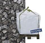 Hamann Lava-Mulch Anthrazit 16-32 mm Big Bag 600 l - dauerhaftes und dekoratives Abdeckmaterial - Form- und windstabil