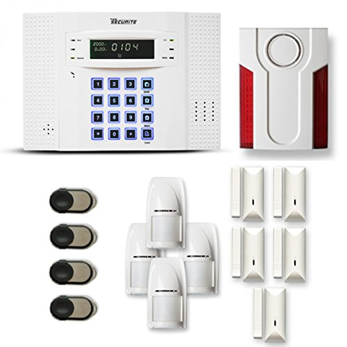Alarme maison sans fil DNB 4 à 5 pièces mouvement + intrusion + sirène extérieure