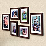 #2: Ajanta Royal Classic set of 6 Individual Photo Frames (4-6x8 and 2-8x10 Inch)- Brown : A-89B