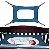 Aolvo Babyhängematte für Wiege, strapazierfähig, elastisch, für Neugeborene, Kinderzimmer, Hängematte mit verstellbaren Riemen, 0-12 Monate