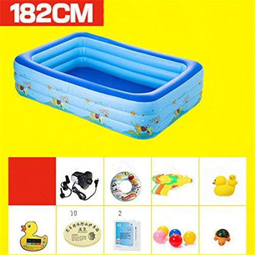 CHENHUAVerdicken Umweltfreundliche PVC Baby Kinder Schwimmen Gefaltet aufblasbare Quadratische Familie Pool Ball Pool 182 * 145 * 55cm Geeignet für über 3 Jahre Alt