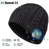 Bluetooth Beanie Hat, 5.0 Cappello Bluetooth, Cuffie a Cuffia wireless con Altoparlanti Stereo HD e MIC Incorporato, Lavabile Running Hat per Uomo Regali, Elettronici Regali di Natale per uomo/donna