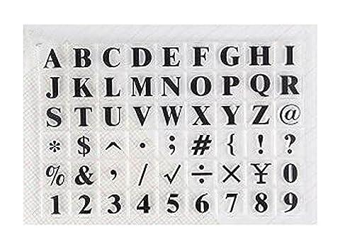 [ABC] 2 Sets von transparenten Handwerksstempeln Scrapbooking Clear