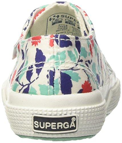Superga 2750-fabriclibertyj, Sneakers basses fille Multicolore (Floral Red/Aqua)