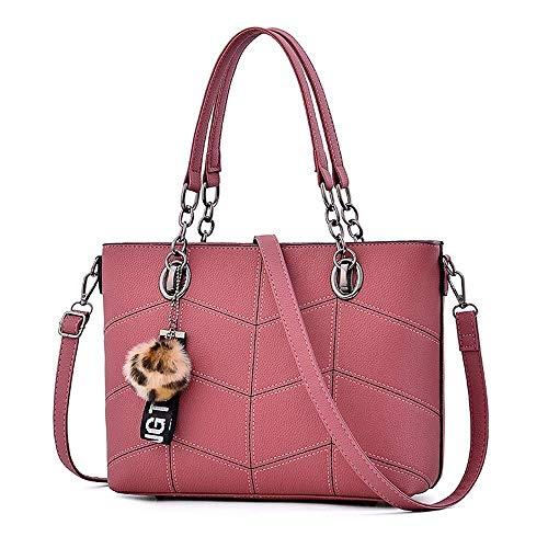 Handtasche Multifunktionsdesign Elegante Einkaufstasche Für Schule Arbeit Reise Einkaufen Haar Ball Ornamente Umhängetasche Mode