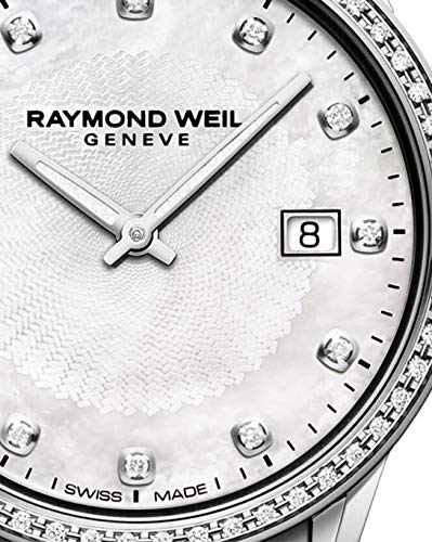 Montre à Quartz Raymond Weil Freelancer Ladies, 67 Diamants, Blanc Nacre, 29mm