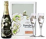 Perrier Jouet Belle Epoque Blanc Brut + GB mit 2 Gläsern 2008 12,5% Vol. 0,75 l