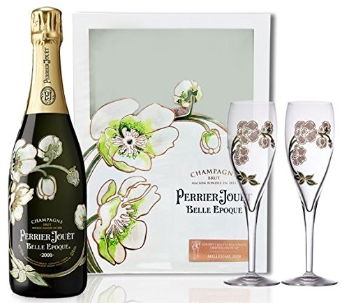 Perrier Jouet Belle Epoque Vintage 2011 75cl Champagne Two Glass Gift Set