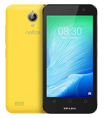 Image of TP-Link Neffos Y50 4G/LTE Smartphone (11,43 cm (4,5 Zoll) FWVGA Display, 8GB Speicher, 1GB RAM, Dual SIM, Android 6.0) sunshine yellow