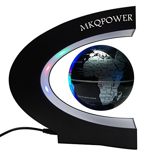 Levitation-globe-with-LEDMKQPOWER-Floating-Globe-with-LED-Light-Rotating-Magnetic-Mysteriously-Suspended-in-Air-World-Map-as-Desk-DecorationGreat-TeachersDay-Christmas-gift