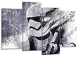4er Set Leinwanddruck/Kunstwerk, Star Wars Stormtrooper-Motiv, geteilt, geteilt, 110x 70cm