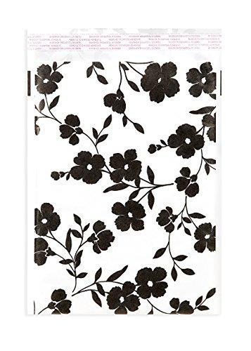 25Kraft enveloppes à bulles Imprimé floral Noir 9x 12de couleur rembourré d'expédition Poly par inspiré Mailers