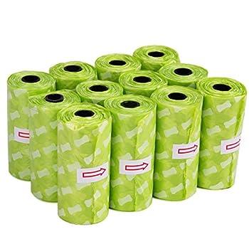 SuperDesign Sacs à déjections Canines Biodégradables,Sacs à Crotte Grande Taille à Forte épaisseur et Anti-fuite Pour Chien/Chat - 12 Rouleaux de 240