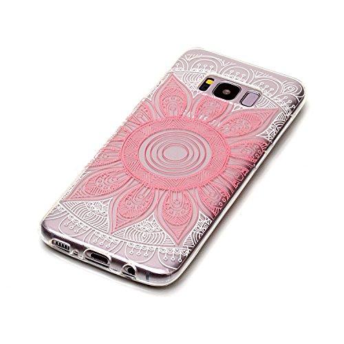 Coque Pour iPhone SE/5/5S,Coffeetreehouse Motif soft coloré de motif imprimé transparent mince TPU Protecteur Case Pour iPhone SE/5/5S(Design Cartoon Licorne) fleur rose