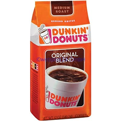DUNKIN DONUTS ORIGINAL BLEND MEDIUM ROAST GROUND COFFEE 1 x 340.2g BAG AMERICAN IMPORT from Dunkin Donuts