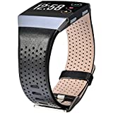 V-MORO Fitbit Ionic armband, leer groot, echt leer, smart watch band band armband vervanging pols f¨¹r Fitbit Ionic Smart Fit