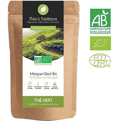 Thé vert Bio Mangue glacée | Sachet 100g vrac | ? Certifié Agriculture biologique ?