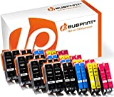 Bubprint 40 Druckerpatronen Kompatibel für Canon PGI 550 XL 550XL BK CLI 551 551XL für Pixma IP7250 IP8750 IX6850 MG6450 MG7550 MX920 MX925 Multipack