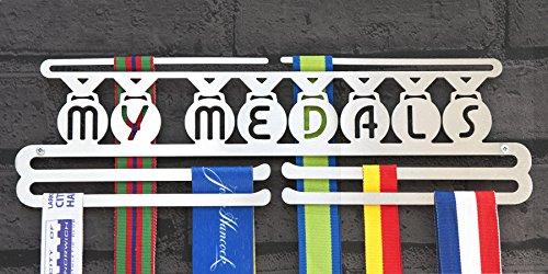 """Medaillen-Aufhänger, Edelstahl, drei Hänge-Ebenen, """"My Medals"""" (in englischer Sprache) - Aufhänger Race-medaille"""