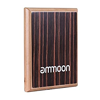 ammoon Compact Travel Box Drum Cajon Flat Hand Drum Percussion Instrument with Adjustable Strings Carrying Bag?