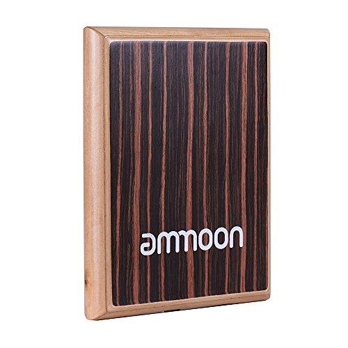 ammoon Compact Travel Box Trommel Cajon Flat Hand Trommel Schlaginstrument mit verstellbaren Saiten Tragetasche