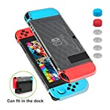 Custodia Nintendo Switch - Younik Case Anti Graffio Super Sottile ed Utilizzabile Nel Dock con 6 Copri Analogico, per Ninetendo Switch e Controller Joy-Con per Ninetendo Switch