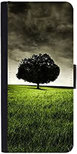 Snoogg Single Tree On Hill Graphic Snap On Hard Back Leather + Pc Flip Cover ...