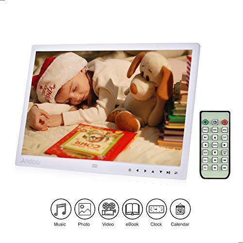 """Andoer 13\"""" Digital FotoRahmen LED Albums 1080P 1280* 800 HD mit Fernbedienung und 7 Hauch der Hilfe-Schlüssel automatische Wiedergabe Weihnachts- und Geburtstagsgeschenk für Familien und Freundin"""