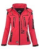 Geographical Norway Damen Softshell Funktions Outdoor Regen Jacke Sport [GeNo-20-Corail-Gr.XL]