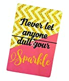 Dios Designs Printed Wooden Wish Bracelet - Never Let Anyone Dull Your Sparkle Gold Geometric DD410 (Wooden Postcard)