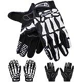 Full Finger Gloves Bicycle Motocycle Riding Sport Skeleton Pattern Warm Men