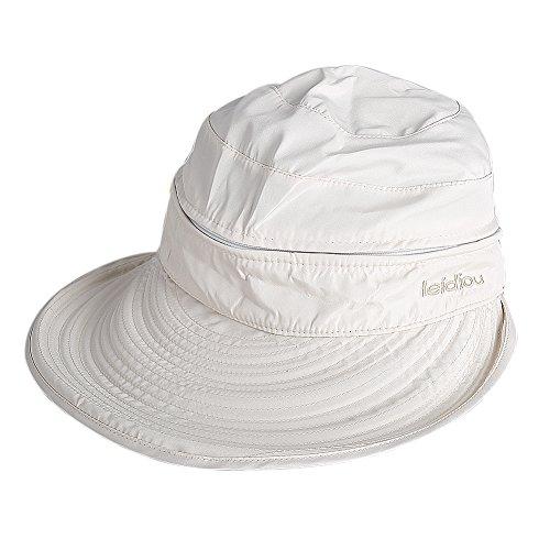 Butterme Butterme Damen Frau Böhmen Floppy Bowknot Sommer doppelten Zweck zwei Verwendungen Polyester Hut im Freien Landwirtschaft Reisen Hat Braid Sun Visor Strand Hut (Beige)