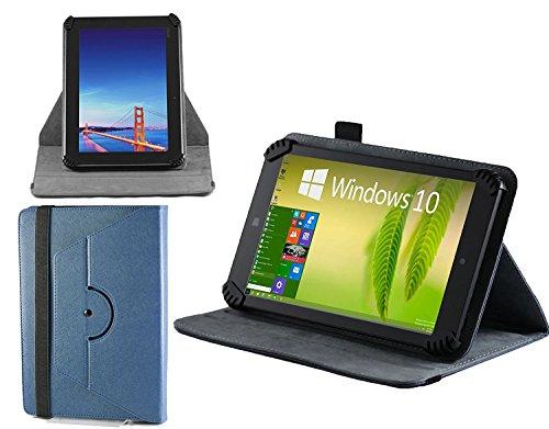 Navitech blau Leder Stand Folio Tasche / Abdeckung für die Polaroid S7 7-inch Dual-Core Tablet (Polaroid Zoll Tasche 7 Tablet)