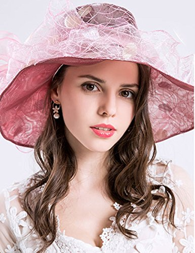 Femmes Summer Vacation Beach Resort Hat Anti-UV Big Curls Le long du Curl ( Couleur : 4 ) 1