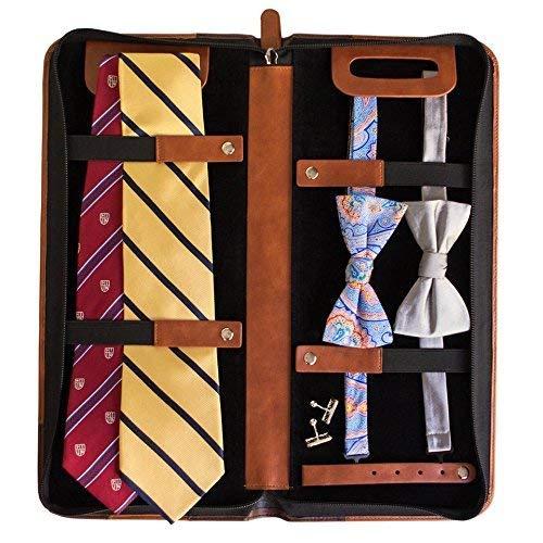 Custodia da viaggio per cravatte pelle vegana Portacravatte di Case Elegance