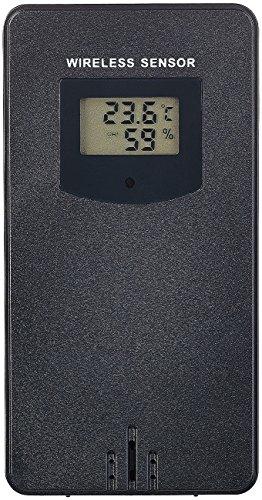 infactory Zubehör zu Datenlogger: Funk-Außensensor mit LED-Display für WLAN-Funk-Wetterstation FWS-786 (Wetterstation mit Außenthermometer)