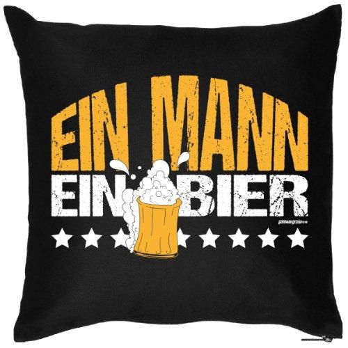 Ein Mann Ein Bier Spaßiges Kissen