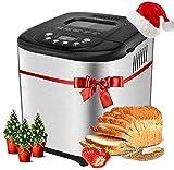 Aicok Macchina per il Pane, 19 Programmi Automatici Macchina del Pane senza Glutine, Capacità 1 kg, Display LCD, Avvio Programmabile, 650W