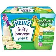 Heinz Con Sabor A Fruta De Plátano Yogur 4-36 Mnths 4 X 100 G - Paquete de 6