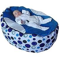 Extra grande bebé puf con arnés de seguridad ajustable y 2extraíble covers-uk vendedor