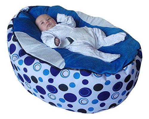Extra Großer Baby-Sitzsack mit verstellbarem Sicherheitsgeschirr & 2herausnehmbaren covers-uk...