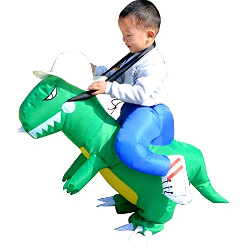 tige aufblasbare Cosplay Dinosaurier Kostüm Spielzeug Dinosaurier Overall Kleidung Halloween Eltern Kind Kampagne Kostüme Geschenk (Alte Leute Lustige Kostüme)
