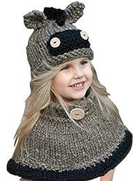 YUTUTU Sciarpa del cappello animale sveglio caldo dei capretti del bambino  dei capretti per l  718d7a623d6c
