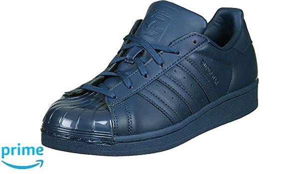 adidas Chaussures Superstar Glossy Toe Bleu Femme: