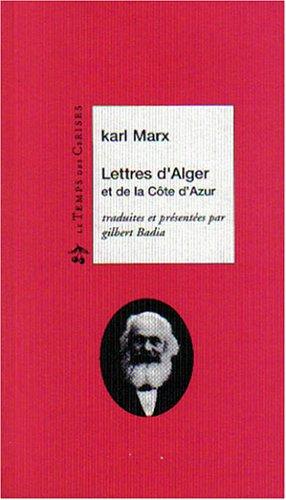 Lettres d'Alger et de la Côte d'Azur
