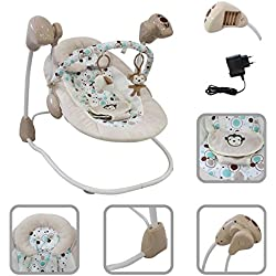 Hamaca columpio automática y práctica para facilitar la vida diaria del bebé - Balanceo de velocidad variable con música y timer
