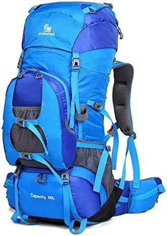 Jiuyizhe Travel Daypack Impermeabile con con con parapioggia per Arrampicata Campeggio Alpinismo Zaino da Trekking (Coloree   Sky blu) | bello  | Sensazione piacevole  7104a4