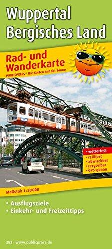 Wuppertal - Bergisches Land: Rad- und Wanderkarte mit Ausflugszielen