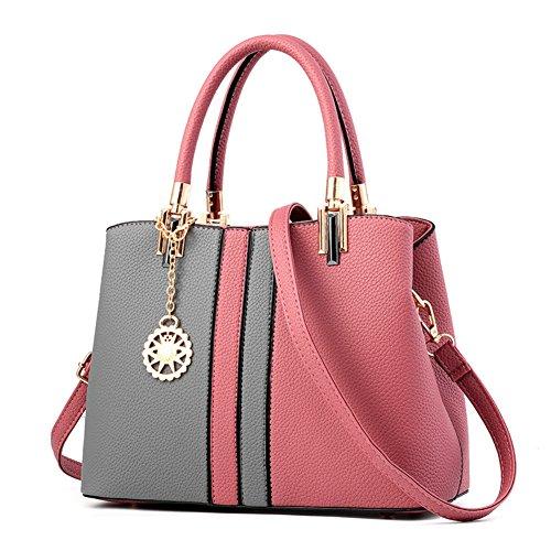 Dreamaccess , Damen Tote-Tasche mehrfarbig mehrfarbig Medium, mehrfarbig - Grey+Pink - Größe: Medium